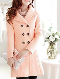 お買い得  レディースコート&トレンチコート-女性用 コート 純色 モダンスタイル
