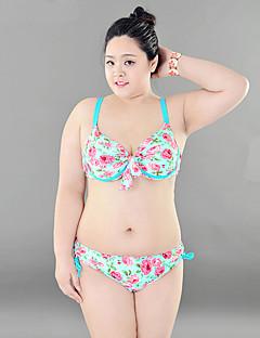 billige Bikinier og damemote 2017-Dame Bikini Blomstret,Nylon Stropper