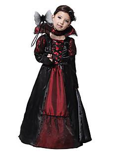 billige Halloween- og karnevalkostymer-Vampyrer Cosplay Kostumer Party-kostyme Jente Barne Jul Halloween Karneval Festival / høytid Terylene Drakter Svart Vintage