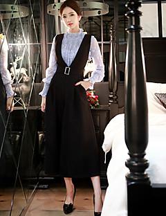 De dabuwawa vrouwen solide wijde pijpen broek, vintage / straat chic / verfijnde
