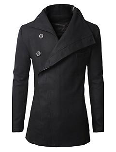 Herren Solide Einfach Lässig/Alltäglich Arbeit Mantel,Hemdkragen Winter Herbst Langärmelige Standard
