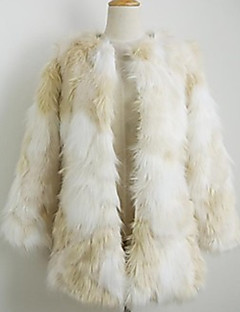 cheap -Women's Plus Size / Daily / Party/Cocktail Sexy / Casual Fur Coat