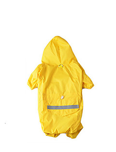 billiga Hundkläder-Hund Huvtröjor / Jumpsuits / Regnjacka Hundkläder Enfärgad / Färgblock Gul / Röd Nylon Kostym För husdjur Sommar Herr / Dam Vattentät