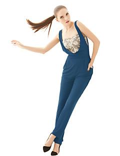joannekitten® kadın moda Avrupa ve Amerika hayranı düz tulum pantolon