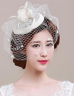 お買い得  フラワーガール-チュール フラックス - 魅力的な人 鳥かご型ベール 1 結婚式 パーティー かぶと