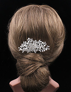 New Personality Fashion  Flowers Pearl Hairbrush