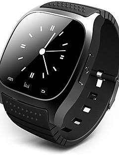 Herrn Smart Uhr digital Touchscreen Fernbedienung Kalender Alarm Schrittzähler Fitness Tracker Stopuhr Caucho Band Cool Luxuriös Schwarz