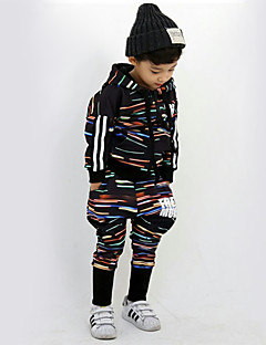 Boy's Cotton Spring/Autumn Fashion Hip-hop Print Tracksuit Long Sleeve Hoodie Coat And Hallen Pants Sport Suit