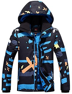 GQY® Jaqueta de Esqui Homens Esqui Esportes de Inverno Térmico/Quente A Prova de Vento Vestível Poliéster Jaqueta de Inverno