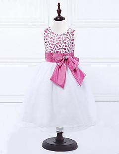 billige Pigekjoler-Pige Rosette Blonde Blomstret Uden ærmer Kjole