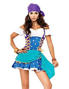 uniformer Cosplay Kostumer Kvinnelig Halloween Festival/høytid Halloween-kostymer Ensfarget