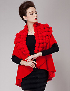 cheap Wedding Wraps-Short Sleeves Cashmere Wedding Party Evening Casual Women's Wrap With Feathers / fur Coats / Jackets