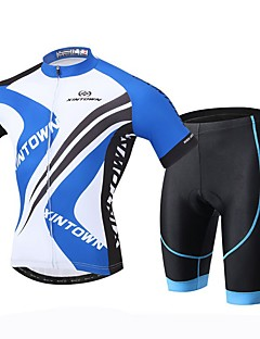 cheap Cycling Jersey & Shorts / Pants Sets-XINTOWN Men's Short Sleeves Cycling Jersey with Shorts Bike Shorts Jersey Clothing Suits, Quick Dry, Ultraviolet Resistant, Breathable,