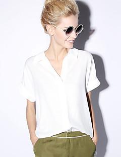 Χαμηλού Κόστους NEW BEFORE-Γυναικεία Μπλούζα Απλός Μονόχρωμο Λαιμόκοψη V