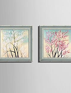 baratos Pinturas Florais/Botânicas com Moldura-Quadros Emoldurados Conjunto Emoldurado Floral/Botânico Arte de Parede, PVC Material com frame Decoração para casa Arte Emoldurada Sala