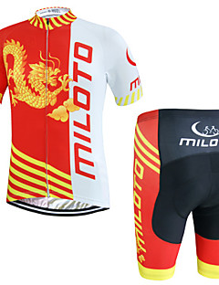 Miloto Camisa com Shorts para Ciclismo Homens Manga Curta Moto Shorts Pulôver Camisa/Roupas Para Esporte Conjuntos de Roupas Secagem