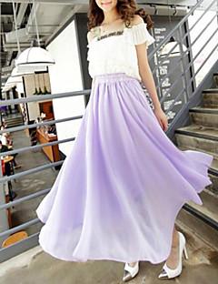 ミディ - スタイル - スカート (シフォン) ミディ - 薄型
