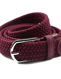 billige Trendy belter-Dame Dress Belt Smalt belte - Skinnende Metallisk, Ensfarget Tøy / Legering / PU