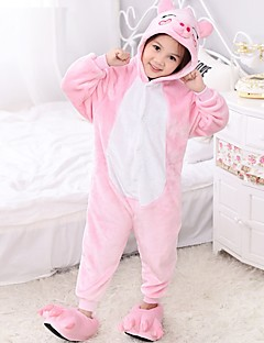 Kigurumi Pyjama  Varkentje Gympak/Onesie Festival/Feestdagen Dieren nachtkleding Halloween Roze Patchwork Fleece Kigurumi Voor Kind
