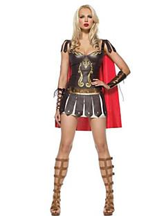 Costumes Warrior Halloween Black Patchwork Terylene Dress / Shawl