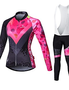cheap Cycling Clothing-Malciklo Cycling Jersey with Bib Tights Women's Long Sleeves Bike Compression Clothing Tights Clothing Suits Quick Dry Front Zipper
