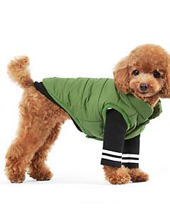 billiga Hundkläder-Hund Tröja Hundkläder Färgblock Grön Blå Cotton Kostym För husdjur Herr Dam Håller värmen Sport