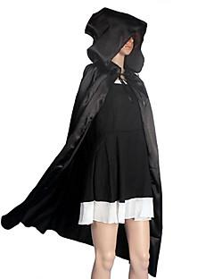 Cosplay Kostuums Mantel Gemaskerd Bal Hallloween figuren Feestkostuum Tovenaar/Heks Engel en Duivel Spook Film cosplay Zwart Mantel