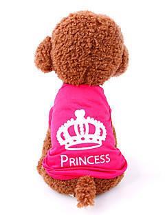 Cat Dog Shirt / T-Shirt Dog Clothes Casual/Daily Tiaras & Crowns Rose