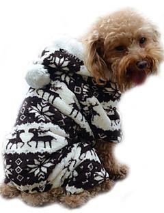 billiga Hundkläder-Hund Huvtröjor Jumpsuits Pyjamas Hundkläder Ren Grå Kaffe Blå Rosa Manchester Kostym För husdjur Herr Dam Gulligt Håller värmen