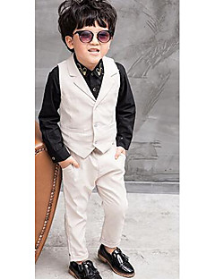 Boys' Formal Solid Sets,Polyester Spring Fall Long Sleeve Pants Suit & Blazer