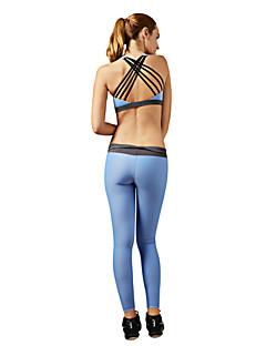 billiga Träning-, jogging- och yogakläder-Dam Öppen Rygg / Strappy Yogakläder - Blå, Rosa sporter Mode Elastan Träningsoverall / Klädesset Pilates, Motion & Fitness, Löpning Ärmlös