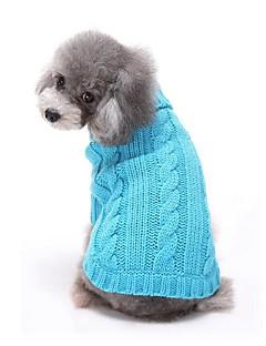 abordables -Chat Chien Pull Vêtements pour Chien Décontracté / Quotidien Solide Rouge Bleu Rose Costume Pour les animaux domestiques