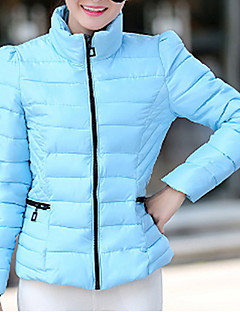 cheap Women's Downs & Parkas-Women's Regular Padded Coat,Casual Daily Solid-Polyester Polyester Long Sleeves Stand