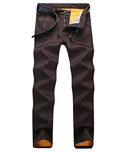 billige Herrebukser og -shorts-Herre Forretning Grunnleggende Bomull Chinos Bukser Ensfarget