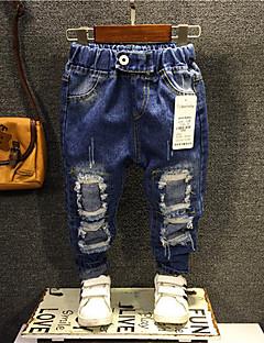 tanie Odzież dla chłopców-Jeansy Bawełna Dla chłopców Codzienny Jendolity kolor Wiosna Dark Blue