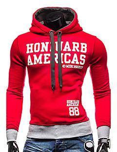 billige Hættetrøjer og sweatshirts til herrer-Herre Sport Aktiv Langærmet Hattetrøje - Bogstaver