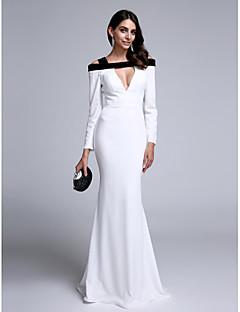 Τρομπέτα / Γοργόνα Ουρά Σιφόν Επίσημο Βραδινό Φόρεμα με Πλισέ με TS Couture®