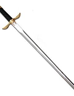 Espada Inspirado por Assassino Altar Ibn-La'Ahad Anime Acessórios de Cosplay Espada Prateado Pele PU