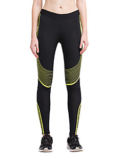 Femme Collants de Course Leggings de Sport Respirable Bas pour Yoga Exercice & Fitness Course/Running Coton Serré Noir/Blanc Jaune/noir.