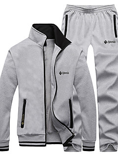 Men's Tracksuit Long Sleeves Thermal / Warm Fleece Lining Soft Comfortable Pants / Trousers Jacket Top Clothing Suits for Running/Jogging