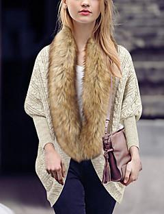 tanie Swetry damskie-Damskie Bateau Rozpinany Jendolity kolor Długi rękaw
