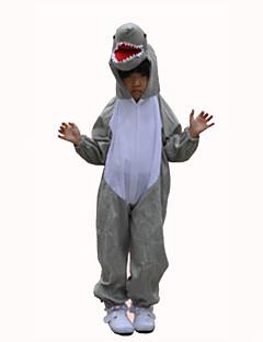 Kigurumi Pyjamas Hai Kostume Grå Terylene Cosplay Kostumer Trikot / Heldraktskostymer Cosplay Festival / høytid Pysjamas med dyremotiv