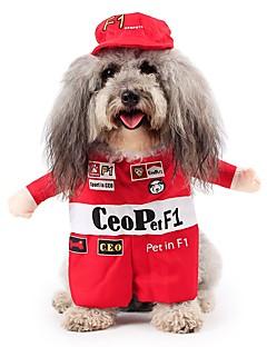 billiga Hundkläder-Katt / Hund Dräkter / Kostymer Hundkläder Figur Röd Terylen / Cotton Kostym För husdjur Herr / Dam Cosplay