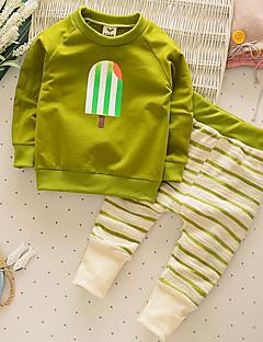 tanie Odzież dla chłopców-Komplet odzieży Bawełna Dla chłopców Codzienne Jendolity kolor Wiosna Jesień Długi rękaw Czerwony Green