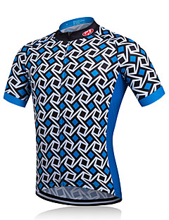 8513d31f4 Fastcute Men s Short Sleeve Cycling Jersey Cycling Jacket Plaid   Checkered  Bike Jersey Breathable Quick Dry Sweat-wicking Sports Polyester Mountain  Bike ...