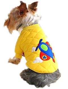 billiga Hundkläder-Katt Hund Kappor Tröja Hundkläder Tecknat Gul Röd Blå Cotton Kostym För husdjur Herr Dam Gulligt Ledigt/vardag Födelsedag Vindtät Håller