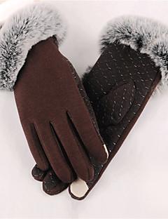 Dame Fritid Håndleddslengde Fingerspisser,Vinter Solid Polyester