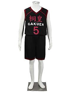 """Inspirert av Kuroko ingen Basket Cosplay Anime  """"Cosplay-kostymer"""" Cosplay Klær Ensfarget Vest Shorts Til Barn"""