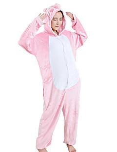 billige Kigurumi-Kigurumi-pysjamas Grisunge/gris Onesie-pysjamas Kostume Fløyel Mink Rosa Cosplay Til Voksne Pysjamas med dyremotiv Tegnefilm Halloween