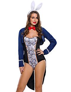 Bunny Jenter karriere Kostymer Cosplay Kostumer Party-kostyme Kvinnelig Halloween Karneval Festival / høytid Halloween-kostymer Fargeblokk